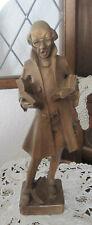 Figur Bücherwurm gebraucht aus Holz geschnitzt ca. 39,5 cm gross