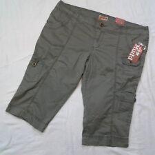 "Womens Mudd Olive Green Cargo Shorts Sz 17"""