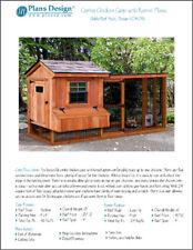 Backyard Chicken Coop Plans with Kennel / Run Saltbox / Lean-to #60410SL