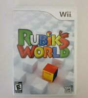 Nintendo Rubik's World Wii Game Complete W/ Manual-Tested