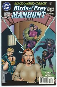 BIRDS OF PREY MANHUNT #3 Nov 1996 DC BLACK CANARY ORACLE HUNTRESS CATWOMAN B/O