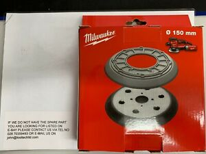 MILWAUKEE REPLACEMENT ROS150E OR ROS150EK SANDING PAD - 4 HOLE VERSION