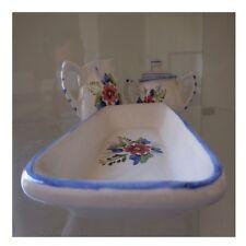 3 céramiques faïences vintage art nouveau déco design XXe fait main PN France N5