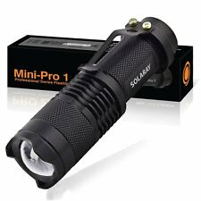 SOLARAY MINI-PRO 1 - Tactical LED Flashlight With Zoom Lens Super Bright 3 Mode