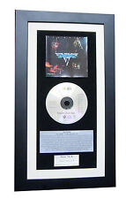 VAN HALEN Debut 1st CLASSIC CD Album TOP QUALITY FRAMED+EXPRESS GLOBAL SHIPPING!