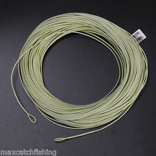 WF6F Weight forward Floating Fly fishing line 100FT 6WT with welded loops Moss