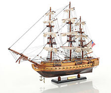 """USS Constitution Old Ironsides Tall Ship 22.5"""" Wooden Model Sailboat Assembled"""