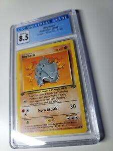 Pokemon Rhyhorn 1st Edition Jungle 61/64 CGC 8.5 NM/Mint+ *Not PSA
