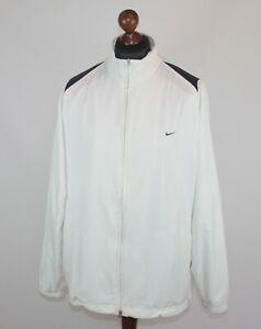 Vintage Nike Court tennis white training jacket Size XL Federer Wimbledon Style
