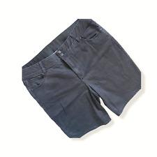 Lane Bryant Noir Short Bermuda Sz 22 Stretch Confort Double Bouton Éclair