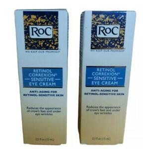 Lot of (2)~Roc Retinol Correxion Sensitive Eye Anti-Aging Creams~0.5 oz each~NIB