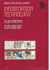 ROYAL MAIL A4 POST OFFICE POSTER 1982 INFORMATION TECHNOLOGY
