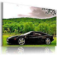 FERRARI TESTAROSSA BLACK Sport Cars Large Wall Canvas Picture ART  AU329 MATAGA