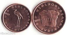 lot 1,2 cts cent centimes euro Slovénie / Slovenia 2009 qualité UNC !!
