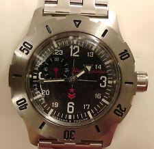 Wrist Automatic Watch VOSTOK KOMANDIRSKIE Mens Fashion Commander Military 350504