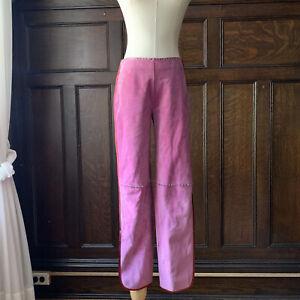 Miu Miu Pink Leather Pants - NWT, Size IT 38