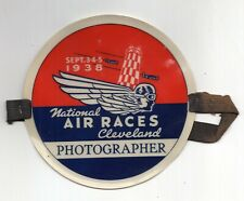 1938 National Air Races, Cleveland Photographers Pass Armband