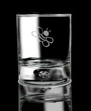 Whiskey Glass Bumble Bee Drinking Glass Bourbon Glass Gift for him.62