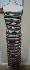 Joie Strapless Multi Color Maxi Dress Women Size Large L