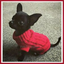 XXXS XXS XS S Small Chihuahua Clothes Clothing Puppy Dog Coat Knitted Jumper