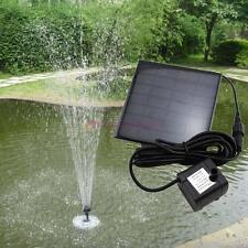 Solar Water Pump Power Panel Kit Fountain Pool Garden Pond Submersible Black T&