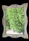 Espejo de pared 30x24 Antiguo oro blanco baño Barroca pasillo C6E crema