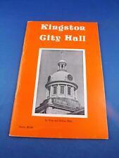 KINGSTON CITY HALL TOUR BOOK TRAVEL SOUVENIR PICTURES VINTAGE 1973 CANADA