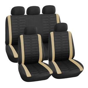 Front Rear Full Set Car Seat Cover Seat Protection Washable Car Accessories