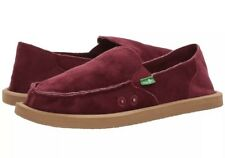 New Sanuk 1017577 Donna Velvet Red Women's Slip On Shoes Size 10