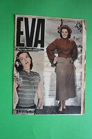 Magazine Revista Eva N.10/1949 Moda Fashion Época Elegancia Directa Da Sonia