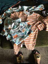 0-3 Months Unisex Bundle 6 Vests 2 Babygrows