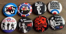 More details for the jam set of 8 button badges - mod punk rock band - paul weller 25mm pins