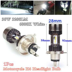 1x H4 30W 3200LM 6000K White LED Motorcycle Headlight Front Fog Bulb Lamp Light