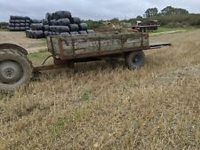 MF 3 TON FARM TIPPING TRAILER WITH BALE EXTENSION AND HAY RAVE NICE PROJECT