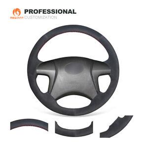 Black Suede Steering Wheel Cover for Toyota Highlander 2008-2014 Camry 2007-2011