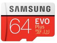 Samsung EVO Plus 64GB Micro SD SDXC UHS-I Card with Adapt