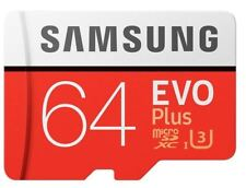 SAMSUNG EVO PLUS 64 GB Micro SD SDXC UHS-I CARD CON adattarsi