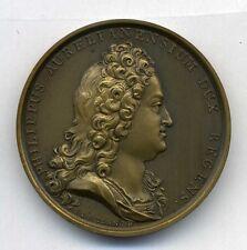 PHILIPPUS AURELIANUS & Louis XV by I.LE BLANC Bronze medal / M50