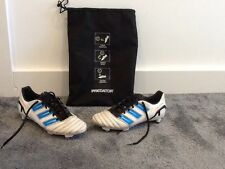 Mens Adidas Predator White Football Boots & Bag Uk 6 Used Vgc