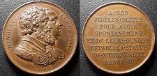 Henri IV & Louis XVIII - Médaille - statue équestre de Henri IV par Gayrard