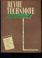 (C11)REVUE TECHNIQUE AUTOMOBILE PEUGEOT 403 / BUICK V8 1953 à 1955 / 4CV RENAULT