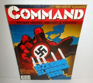 BOARD WARGAME & MAG Command #24 Czechoslovakia 1938 What-if WW2 op 1993