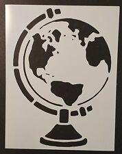 """Earth Globe 8.5"""" x 11"""" Custom Stencil FAST FREE SHIPPING"""
