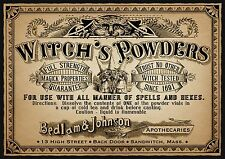 Vintage Advert Witch s Powders Wall Art Print A3 Large