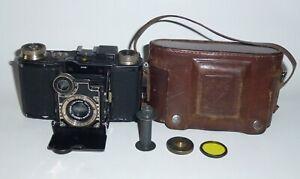 Super Nettel Black Zeiss Ikon HAFA Folding Camera+50mm f/3.5 Tessar Lens