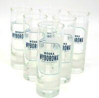 6 Wodka wyborowa gläser 2/4 cl mit Logo Stamper Bar Deko Party Gläser Neu Vodka