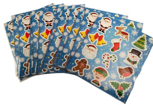 12 Sheets CHRISTMAS Stickers Kids Girls Childrens Party Bag Stocking Fillers