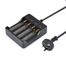 EU 18650 3.7 V 6000 mAh Li-ion Batería Recargable + Cargador de ranura de cuatro enchufe de Reino Unido Nuevo