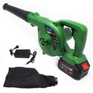 Cordless Leaf Blower 21V 3.0 Ah Lithium Battery 2in1 Sweeper Vacuum Leaf Blower