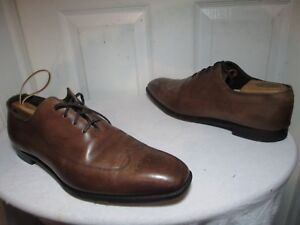 STUART'S CHOICE WHOLECUT BRN LEATHER MEDALLION OXFORDS HANCRAFTED IN ENGLAND 13D